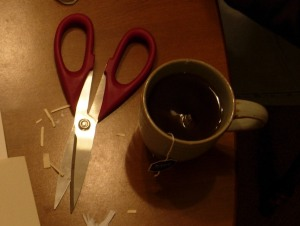 Tea, yes Scissors, no